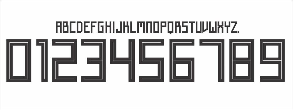 Die neue Schriftart von adidas für die WM Trikots