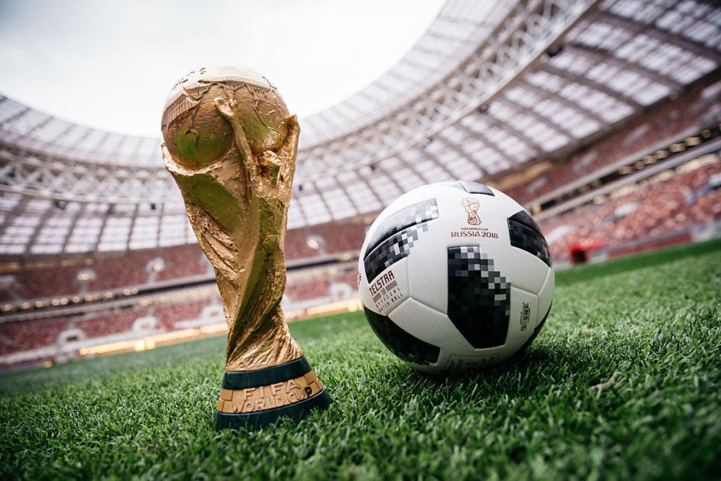 Telstar 18 - der offizielle Fußball der WM 2018 in Russland (Foto Adidas)